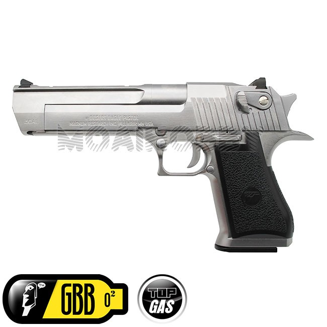Cyber Gun License We Desert Eagle 50ae Full Metal Gbb Pistol Silver Online Airsoft Retail Wholesale Worldwide Shipping